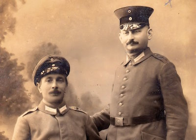 Isaak Halberstadt (right) © Courtesy of Rabbi David Hulbert, with thanks to Beth Wyatt, Ilford Recorder