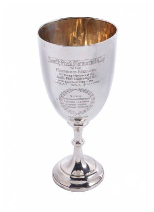 South Park Swimming Club Memorial Cup. Photo by Redbridge Museum.