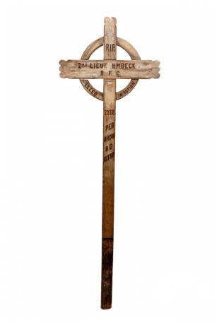 Herbert Musgrove Beck Battlefield Cross. Photo by Redbridge Museum.