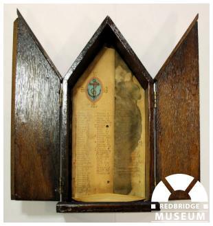 St Clement's Church Memorial Triptych. Photo by Redbridge Museum.