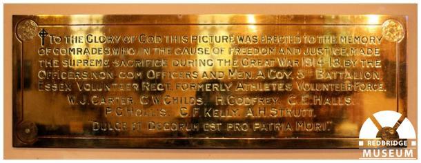 Essex Volunteer Regiment Memorial Painting. Photo by Redbridge Museum.