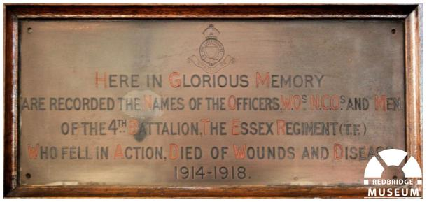 St Mary The Virgin Church Book of Rememberance. Photo by Redbridge Museum.