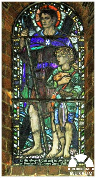 Stanley John Derby Curnow Memorial Window. Photo by Pat O'Mara.