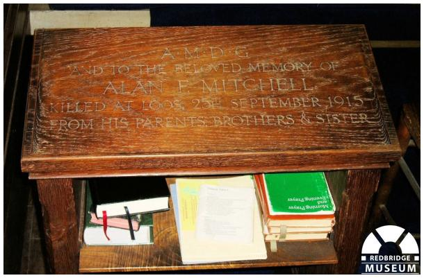 Alan Faynes Mitchell Memorial Table. Photo by Pat O'Mara.