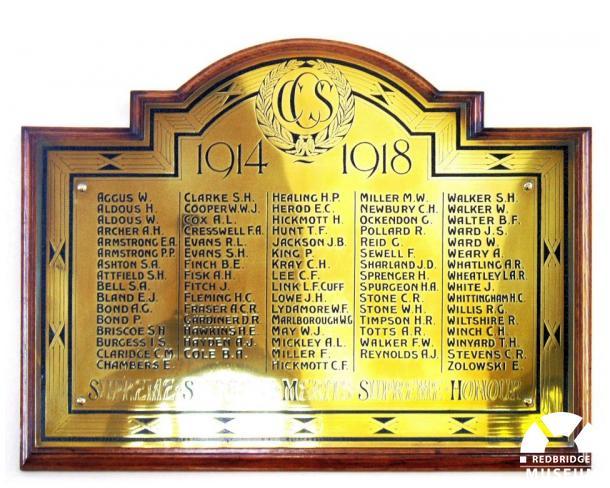 Christchurch School Memorial Plaque. Photo by Pat O'Mara.