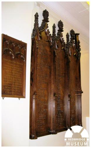 St Clement's Church Memorial Panels. Photo by Pat O'Mara.