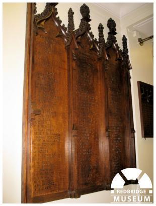 St Clement's Church Memorial Panels. Photo by Pat O'Mara.