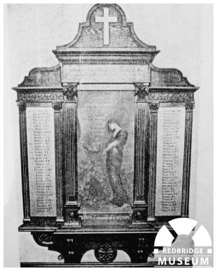 Ilford Congregational Church Memorial Panels. Photographer Unknown.