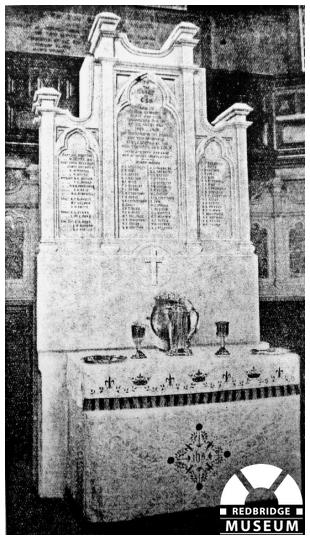 Ilford Congregational Church Memorial. Photographer by Unknown.