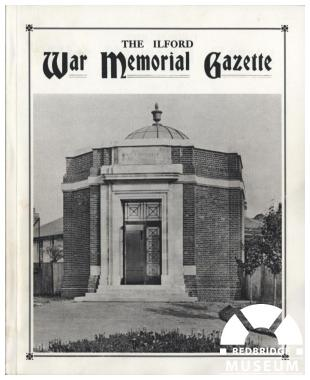 Ilford War Memorial Gazette. Photo by Information and Heritage.