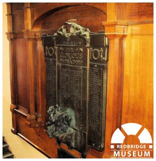 Ilford County High School Memorial Plaque. Photo by Pat O'Mara.