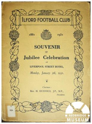 Ilford Football Club Roll of Honour. Photo by Redbridge Museum.