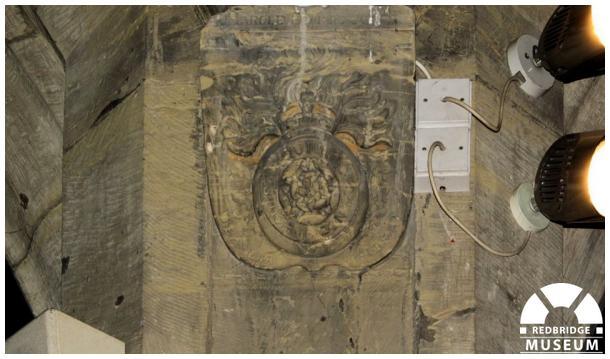 Harold E Jones Memorial Shield. Photo by Redbridge Museum.