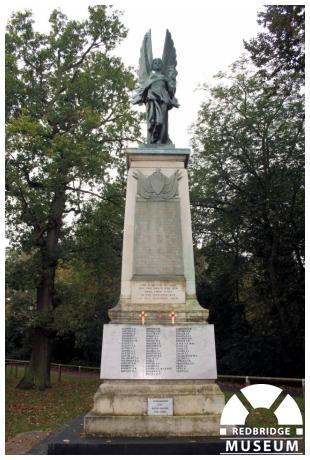 Wanstead War Memorial. Photo by Redbridge Museum.