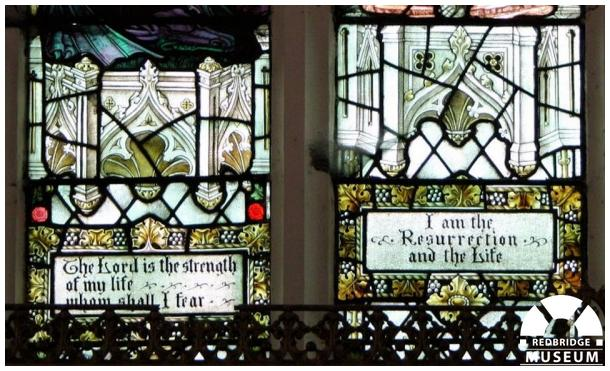 Wanstead Infant Orphan Asylum Windows. Photo by Redbridge Museum.