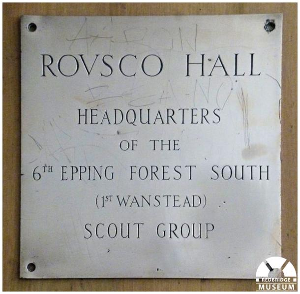 6th Epping Forest Scout Group and 1st Wanstead Scout Group Memorial Plaque. Photo by Epping Forest South District Scout Council.