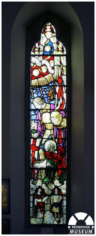 Wanstead Methodist Church Memorial Windows. Photo by Redbridge Museum.