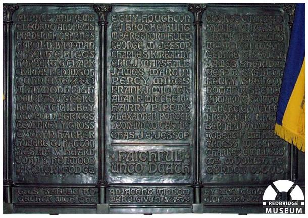 All Saints' Church Memorial Plaque. Photo by Adrian Lee.