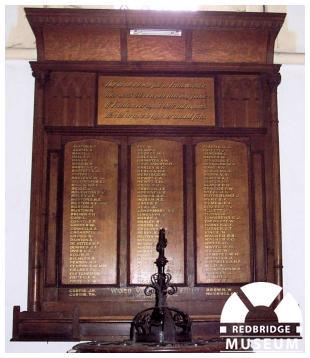 Holy Trinity Church Memorial Board. Photo by Adrian Lee.