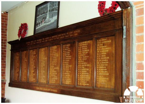 Bancrofts School Memorial Panels. Photo by Patrick O'Mara.