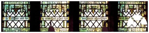 Douglas Joseph Geere Memorial Windows. Photo by Adrian Lee.