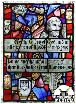 St Mary's Church Memorial Windows. Photo by Howard Anderson.