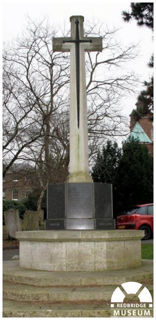 Woodford War Memorial. Photo by Redbridge Museum.