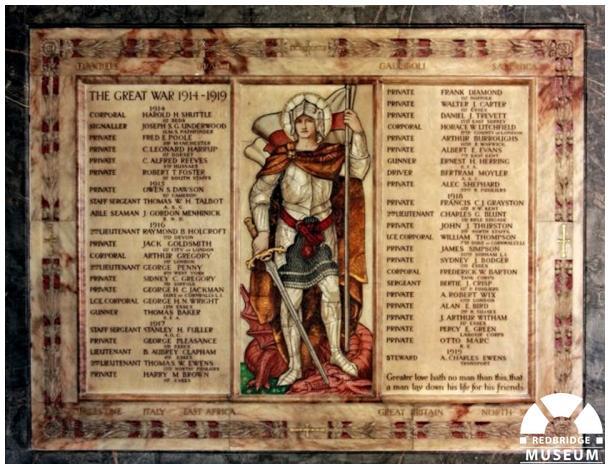 St Paul's Church Memorial Tablet. Photo by Patrick O'Mara.