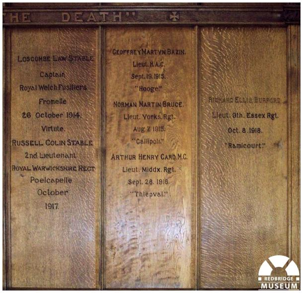 Holy Trinity Church Memorial Panels. Photo by Adrian Lee.