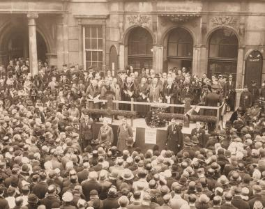 Remembrance Day, Ilford Town Hall, 1929
