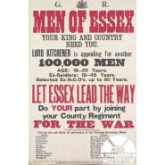 Essex Regiment recruitment poster. © Creative Commons Licence