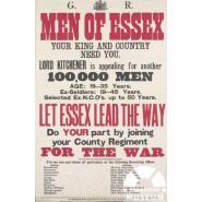 Essex Regiment recruitment poster. © Creative Commons Licence
