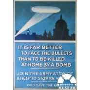 British Army recruitment poster featuring a German Zeppelin airship. © Creative commons licence