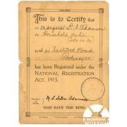 National Registration Identity Card. © Redbridge Museum