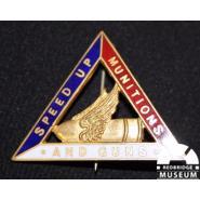 Women's munitions worker badge. © Redbridge Museum 2003.4115