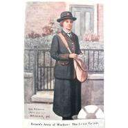An Ilford Postwoman Drawn From Life, 1916. © British Postal Museum & Archive, with thanks to Peter Butt. With thousands of employees serving in the army, the Post Office took on 50,000 temporary female workers, although it was made clear this was only for the duration of the war. By July 1915, with a total of 28 Ilford postmen having left it was no surprise that two postwomen had been employed. One was even drawn by a local artist, Samuel Hancock, himself a postman.